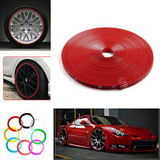 8M Car Truck Wheel Rim Protector Tire Guard Line Rubber Moulding Decoration Red