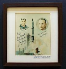 JOHN YOUNG SIGNED & MICHAEL COLLINS SIGNED - Unique Framed Photo Display!
