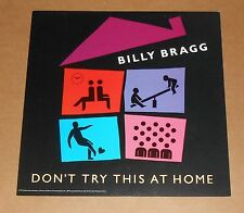 Billy Bragg Don't Try This at Home Poster 2-Sided Flat Square Promo 12x12