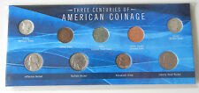 """THREE CENTURIES OF AMERICAN COINAGE"" 9 Coin Set With COA (Limited Editions)"