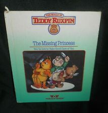 Vintage 1985 World Of Wonder Teddy Ruxpin Missing Princess Reading Pictures Book