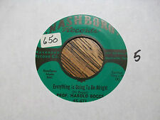 PROF. HAROLD BOGGS That's It/Everything Is Going To Be Alright NASHBORO 656 NM