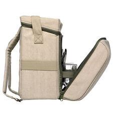 Picnic Backpack Safari Canvas Backpack Picnic Camping for 4 Kakhi by Sagaform