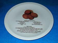 """Ceramic Peanut Butter Cookie Recipe Plate--10 3/4""""  NEW"""