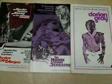 3 pressbook AIP lot Dorian Gray Murders in Rue Morgue & House that Screamed