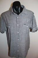 Rusty Men's Grey Casual Shirt Hawaiian Size Large