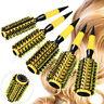 5 Size Nylon Bristle Round Hair Roller Brush Natural Wood Hairbrush Comb Tool