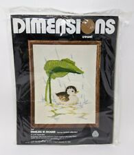 Dimensions Crewel Embroidery Kit 1028 Duckling in Shower 1977 Current New