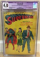 SUPERMAN #30 CGC 4.0 1944 ORIGIN & 1ST APPEARANCE OF MR. MXYZTPLK SLIGHT RESTOR