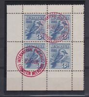 APD545) Australia 1928 3d Kookaburra Minisheet First Day of Issue superb used!