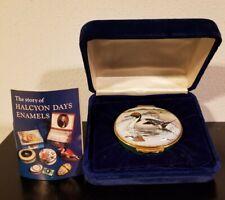 Halcyon Days Trinket Box Enamel Northern Pintail Duck Waterfowl