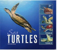 Tuvalu 2014 MNH Sea Turtles 4v M/S II Reptiles Chelonioidea