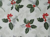 """Ralph Lauren Christmas Placemats/Napkins/70"""" Round Tablecloth~Holly & Berries"""