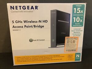 NETGEAR WNHDE111 5 GHz WIRELESS-N HD ACCESS POINT/BRIDGE + POWER ADAPTER
