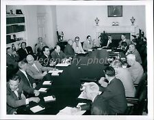 1955 Richard Nixon Presides over Cabinet Meeting Original New Service Photo