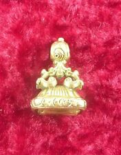 ANTIQUE ESTATE ROLLED GOLD GOLD PLATED PENDANT FOB SEAL CITRINE SET VICTORIAN