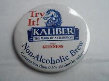 "VINTAGE 3"" PINBACK BUTTON #55- 032 - KALIBER NON ALCOHOLIC BREW"