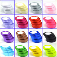 Full Reel 22 Metres/Roll Satin Ribbon 6,10,15,20,25&38mm In Multiple Colours