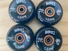 POWELL PERALTA BONES Clears 58mm & Bronson Bearings OJ Rat Bones G Cubics