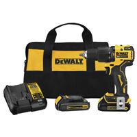 DEWALT DCD709C2 ATOMIC 20V MAX Li-Ion 1/2 in. Hammer Drill/Driver Kit (2 Ah) New