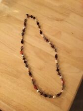Glass Beaded Rope Necklace