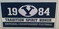BYU Cougars 1984 Football National Championship Banner