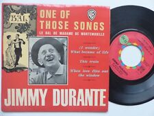 JIMMY DURANTE One of those songs What became of life .. EP95 FRANCE    RRR