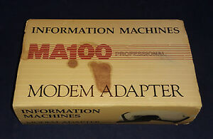 Vintage information Machines MA100 Professional Acoustic Coupler Modem, (C8B5)