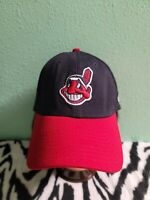 Cleveland Indians New Era 39Thirty Chief Wahoo Official Fitted Cap Med/Large