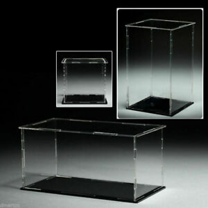 Acrylic Plastic Display Case Box Dustproof Self-Assembly Various Sizes Diecast