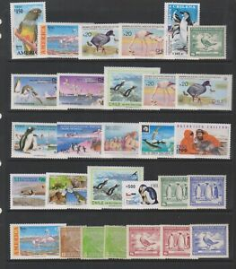 Chile - Small Collection of 29 Bird stamps - MNH