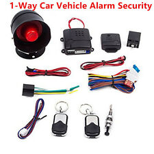 1 Way Car Vehicle Alarm Security Protection Keyless Entry System w/ 2 Remote