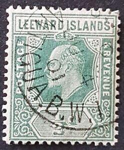 Leeward Islands - 1907 - Sc 42 - 0.5p Green KEVII VF  USed
