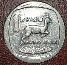 2014 One 1 Rand Cerf Gazelle Cornes Animal Monnaie Afrique du Sud