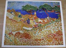 ANDRE DERAIN - COLLIOURE * KUNSTKREIS LUCERNE ART PRINT 1966