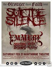 "SUICIDE SILENCE / EMMURE ""STRONGER THAN FAITH TOUR"" 2015 PORTLAND CONCERT POSTER"