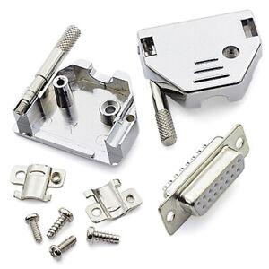 [2pcs] D-SUB-DB15-COVER Socket D-SUB 15 Pin DB15 in Case BLOCK