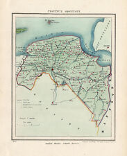 ANTIQUE MAP-NETHERLANDS-PROVINCIE GRONINGEN-KUYPER-1865