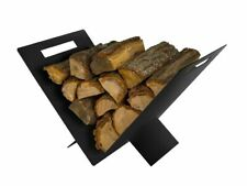 Triangular Contemporary Steel Firewood Steel Log Basket/Carrier for Woodstove Fi