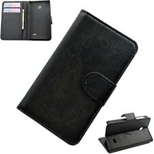 Black Magnetic Flip Leather Stand Card Pocket Wallet Cell Phone Case For Nokia X