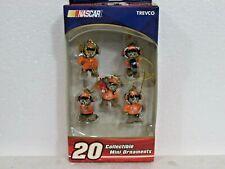 NASCAR #20 Tony Stewart Bear Pit Crew Collectible Mini Ornaments Set of 5 - NEW
