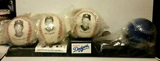 1994 LA Dodgers (3) Photo Balls & Logo Ball with Display Stand - New Sealed