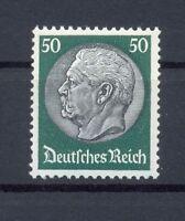 DR 492 Hindenburg Wz. Waffeln 50 Pfg postfrisch geprüft A Schlegel (or8)
