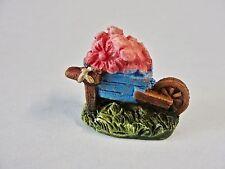 Fairy Garden Miniature Decor *Wheelbarrow & Flowers* Resin Figure Brand New