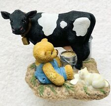 Cherished Teddie  MACDONALD & BESSIE, VERY RARE BLACK COW 847364 2001 MIB, NRFB