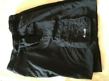 Columbia size XL black shorts elastic adjustable waist zipped pocket excell cond
