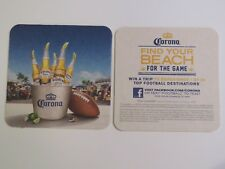 Beer Bar Pub Coaster: Corona Light ~ Find Your Beach For The Game ~ Win A Trip
