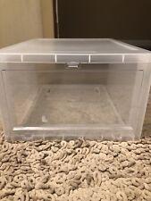 1 Men's Drop-Front Shoe Box Translucent 👠 👟  Shoe Container