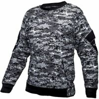 Tactical Recon Military Fleece Crew Neck Army Combat Pull Over Sweater Digital