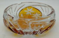 VINTAGE 24% LEAD CRYSTAL GLASS ASHTRAY MADE IN POLAND candy dish change dish etc
